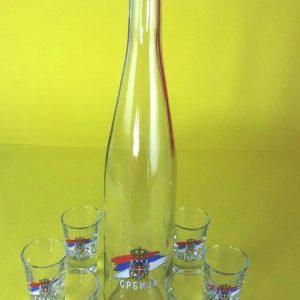 Bottle & 6 Shot Glass